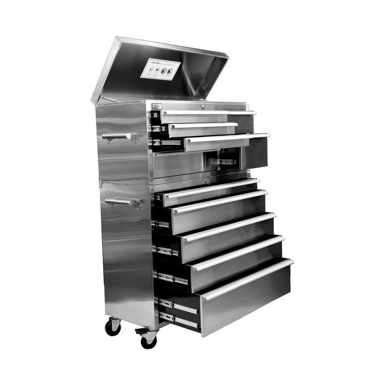 41 in. 11- Drawer Tool Chest - Stainless Steel (Silver)