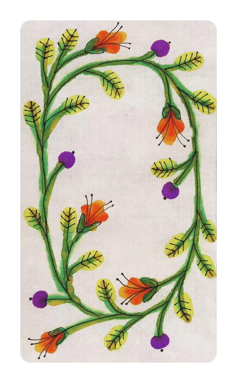 SPIRNG WREATH ricepaper, ink