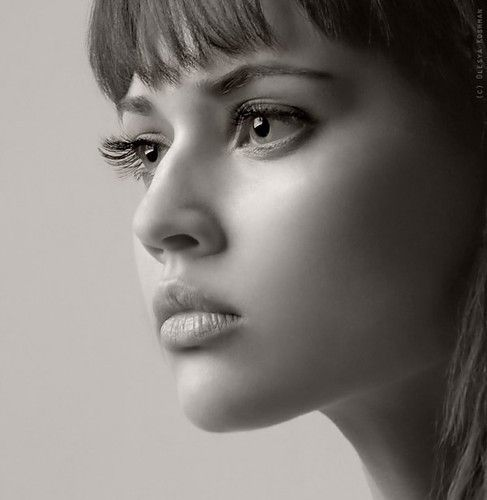 Schwarz Weiß Fotos Hübsche: Schwarz-weiß-porträt, Gesichtsfotografie Und