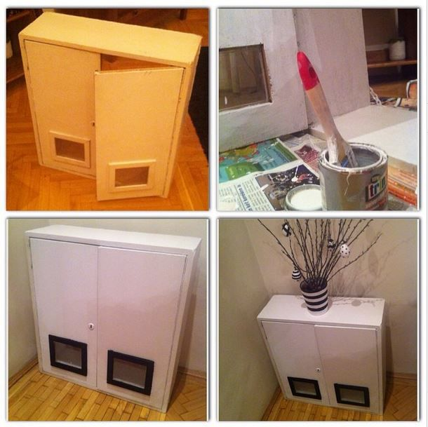 DIY repainted old cabinet #diy #decor #decoration #interior #paint #home #myhome http://ladiy.cafeblog.hu/