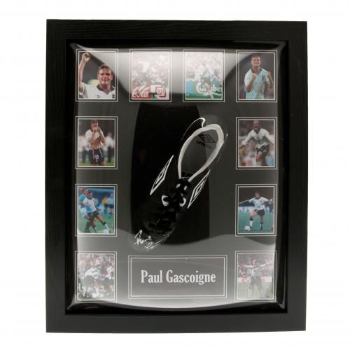 - Paul Gascoigne Signed Umbro Football Boot- photographic certificate of…
