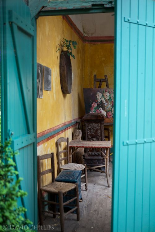 The artist's studio of the Hotel Baudy in Giverny, France. Many of the famous impressionists visited here.