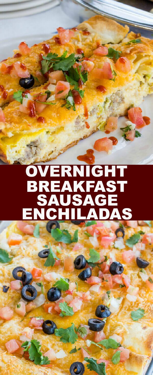 Overnight Breakfast Sausage Enchiladas {A Tasty Spin on Breakfast}