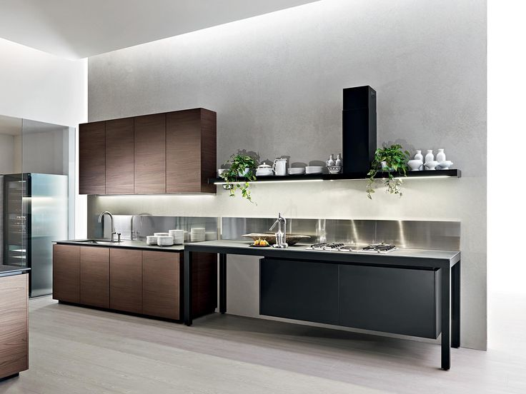 Contemporary kitchen aluminum laminate banco by luca meda dada