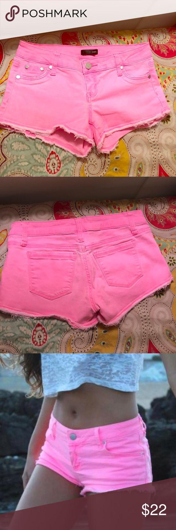 Aqua Neon Pink Shorts Super cute neon pink (short) shorts from Bloomingdales Aqua brand. In great condition/no flaws!! Aqua Shorts