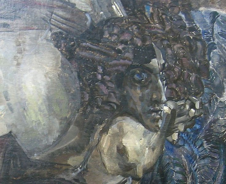 Mikhail Vrubel. The Seated Demon