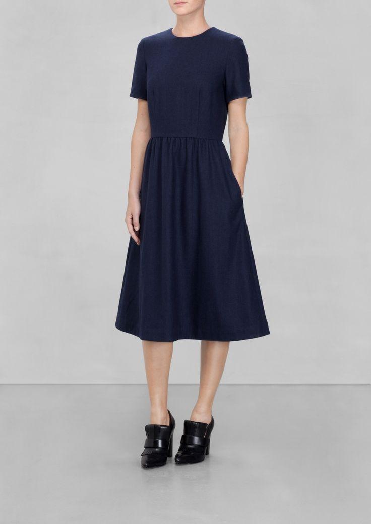 & Other Stories   Wool Midi-Dress