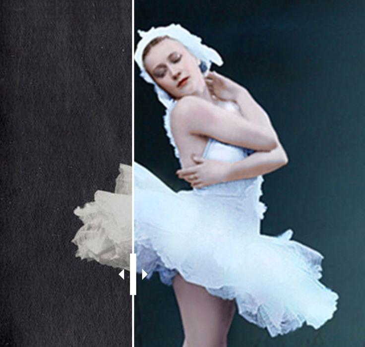 Fotos raras de ballet russo são coloridas; veja galeria Imagens de início do século 20 compõem nova série de artista russa Klimbim, que já tratou antes fotos de heróis da Segunda Guerra e da família do tsar Nikolai II. De Ksênia Issáeva, Gazeta Russa
