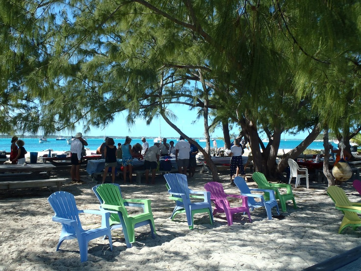 Georgetown, Bahamas. The place to get the best conch burger ever!