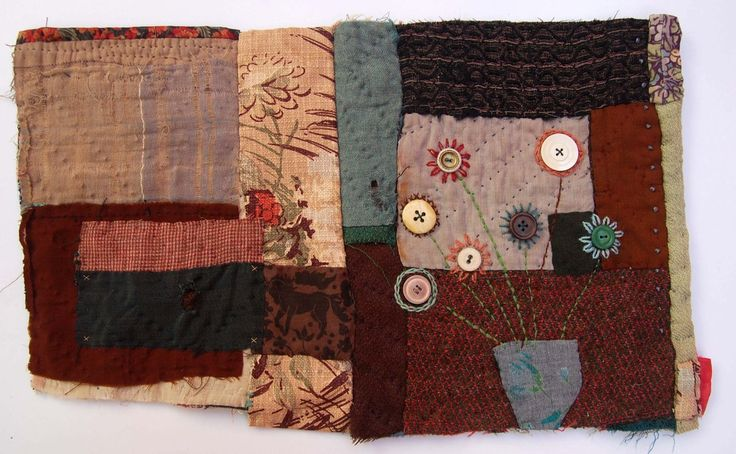 Mandy Pattullo  applique and stitch on to re-pieced stable boy quilt fragment 2009