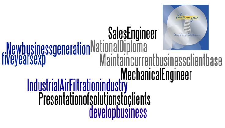 We're Hiring! A Sales Engineer from the Industrial Air Filtration industry required in JHB East. Great Basic, Huge Car allowance, cell allowance plus other fantastic benefits. Matric plus a National Diploma in Mechanical Engineer would be to your advantage.  Then apply online http://bit.ly/1zYQZrI or email nicole@khanye.com