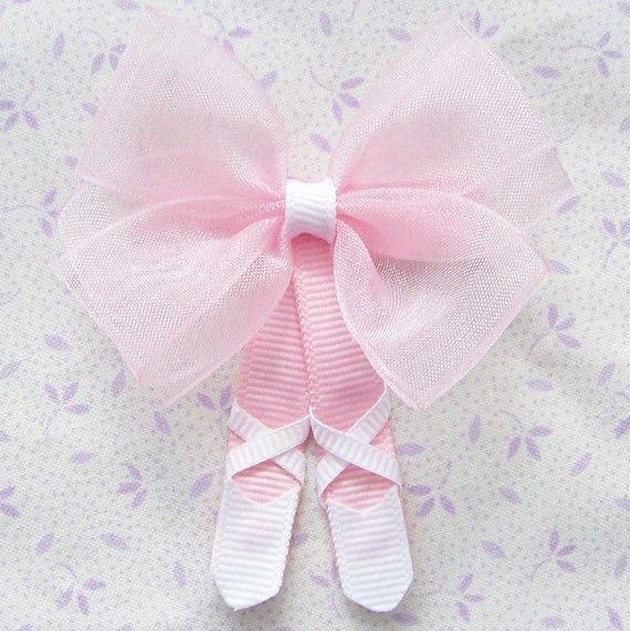 Ballet slipper hair bow -image only