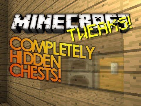 Minecraft Redstone: Completely Hidden Minecraft Chests/Levers! (Minecraft Tweaks) - YouTube