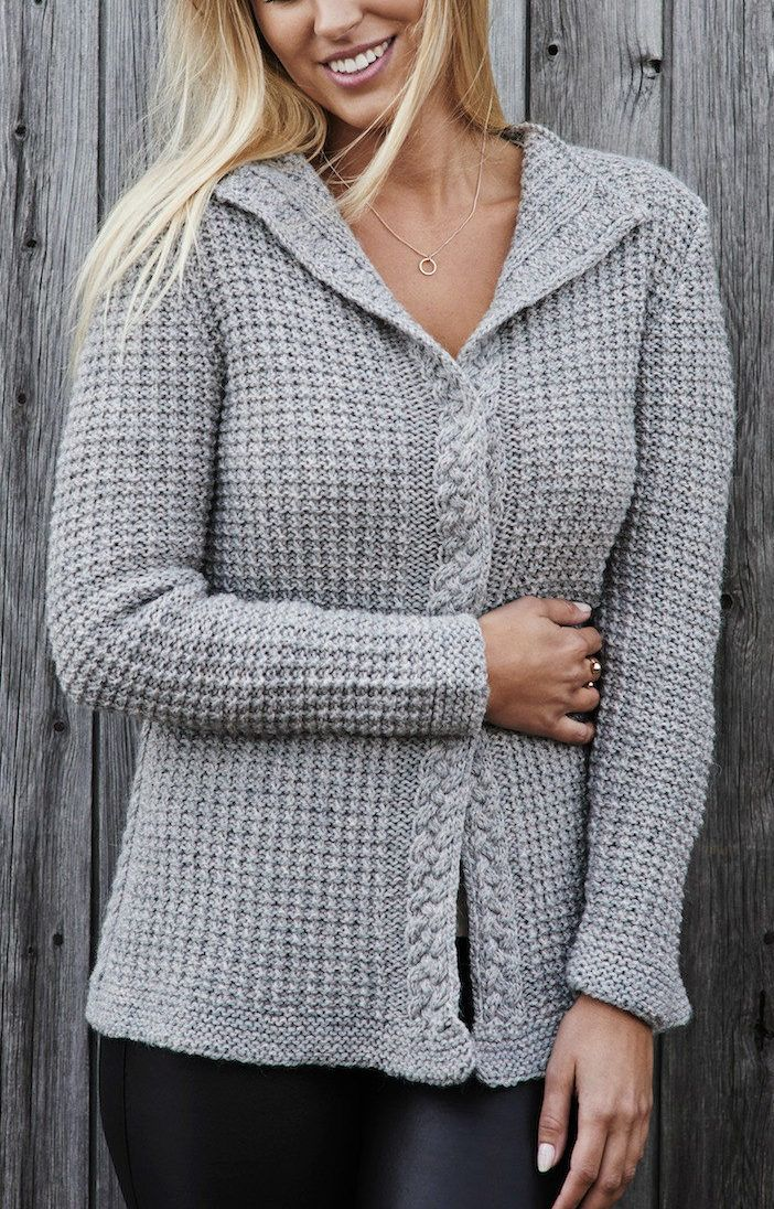 bc0541533022 Knitting Pattern for Becky Cardigan - Long-sleeved sweater knit in ...
