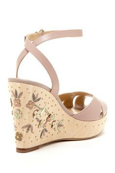 Floral Wedge Sandal      Floral Wedge Sandal - LOVE the detail on the wedge!!!!!