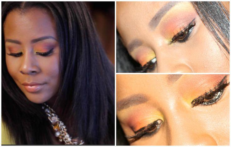 Summer Orange eyeshadow/Hair Extentions (irresistible ME)