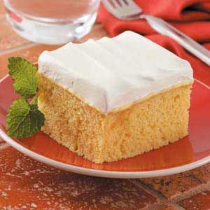 Pineapple Poke Cake - the hint of pineapple upside-down cake flavor makes this cake one of my husband's favorites.