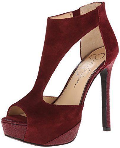 Jessica Simpson Calie True Woman Pump rojo 7.5 M 5xPx3Un