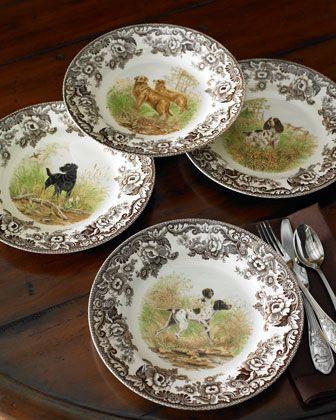 Spode Woodland Hunting Dog Dinnerware - Neiman Marcus