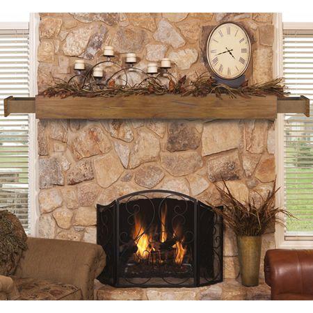 Pearl Dakota Rustic Distressed Fireplace Mantel Shelf with Drawers | WoodlandDirect.com: Mantels, Pearl Mantels