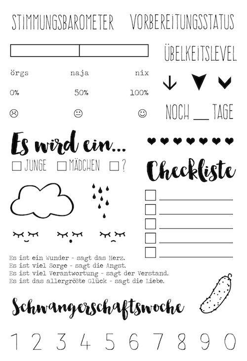 Klartext Stempel Schwangerschaft von www.danipeuss.de zur #babywoche