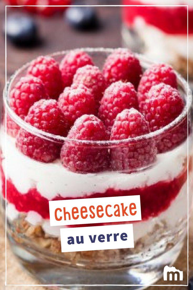 Cheesecake au verre /// #cheesecake #fromage #marmiton #dessert #cuisine #recette