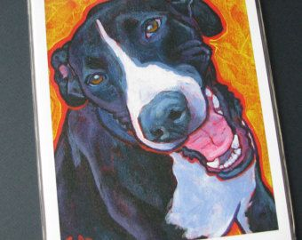 Black and White GREAT DANE Dog 8x10 Signed Art Print from Painting by Lynn Culp