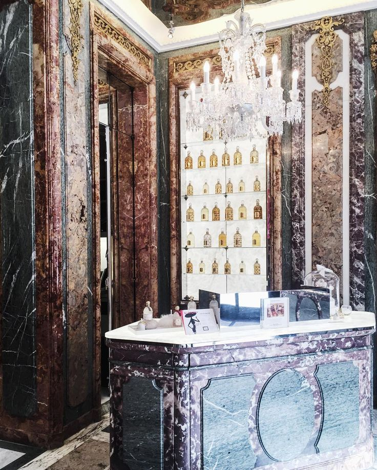 """The Maison Guerlain on Champs- Elysees is their largest store in Paris with its grand marble perfume store and even a restaurant downstairs!…"""