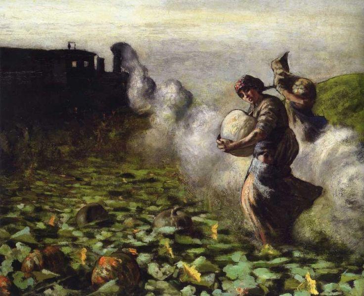 Giovanni Segantini, La raccolta delle zucche, 1883-84 circa, particolare. Minneapolis, The Minneapolis Institute of Arts