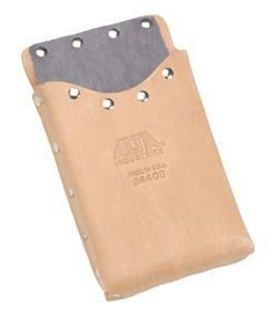 """Features: Best selling pouch for Flooring Professionals, sized for small tools Die formed box shaped pocket Fiber liner resists blade cut through 1 3/4"""""""" belts slots Top Grain Russet Leather Overall"""