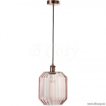 J-Line Lamp Hangend Glas Roze Jline-by-Jolipa-71627