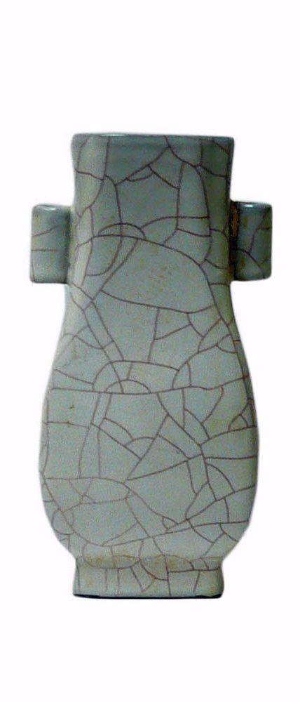 Chinese Light Green Celadon Crackle Ceramic Vase cs567-8S