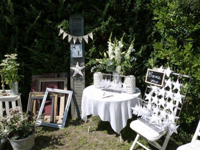 le mariage champ tre domicile de sophie brocante et fait main l honneur mariage blanc. Black Bedroom Furniture Sets. Home Design Ideas