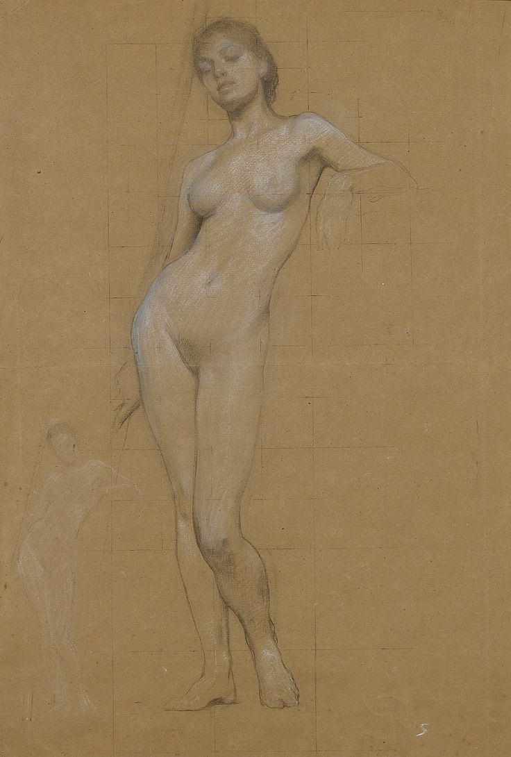 "All sizes | Herbert James Draper (1864-1920), ""Study of a female nude"" 