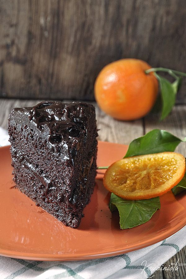 Vegan avocado chocolate cake.