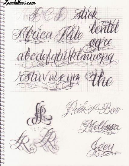 En Letras De Graffiti Abecedario Chicanas Dibujo Tattoo Designs