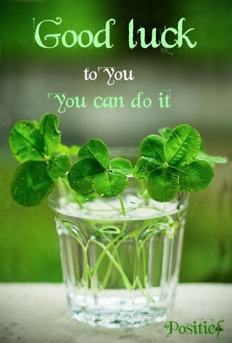 Good luck! You can do it - go for it - positive quotes - wish
