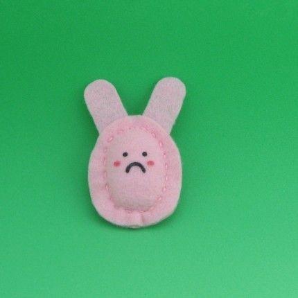 Sad Bunny Pin
