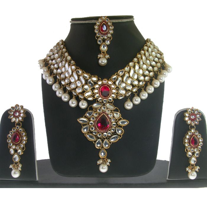 Indian Jewelry set.  Pink $40.00