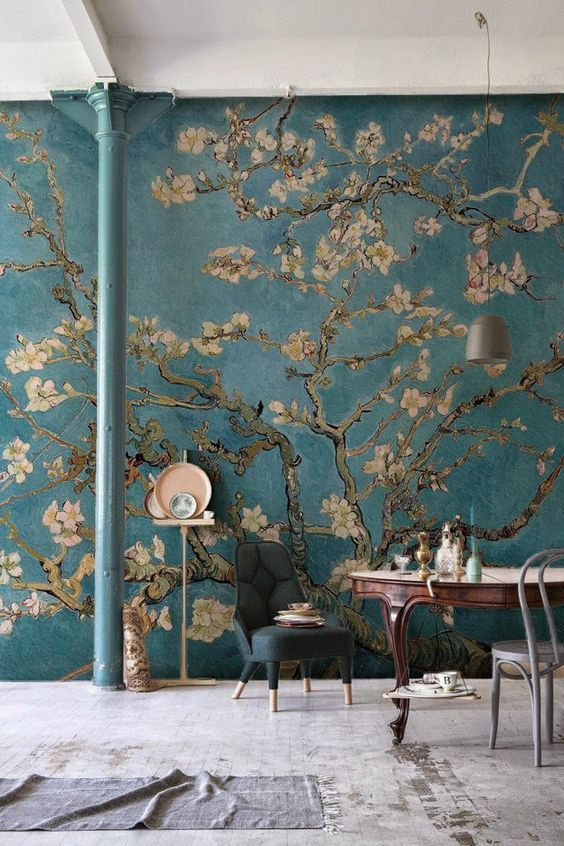 Our Almond Branches by Van Gogh Wallpaper is a depiction of one of the great artist's standout pieces. The blossoming buds painted by Van Gogh represent awakening and hope and we think you'll agree that it will make the most beautiful mural. Our Almond Branches by Van Gogh Wallpaper is perfect for huge admirer's of his work or for those who want to add an element of sophistication and beauty to their interior decor.