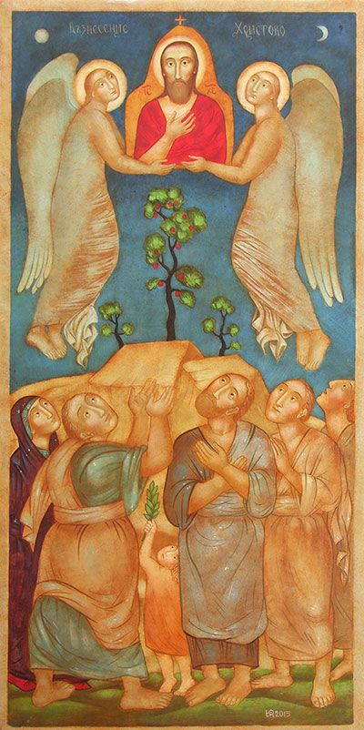"""""""The Ascension of Christ"""" by Julia Stankova (2015)"""