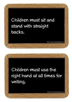 A set of 20 printables of chalkboard slates that show a range of school rules that would have been enforced in Victorian times. An excellent resource for discussion as well as engaging for students to compare modern and old times. Visit our TpT store for more information and for other classroom display resources by clicking on the provided links.