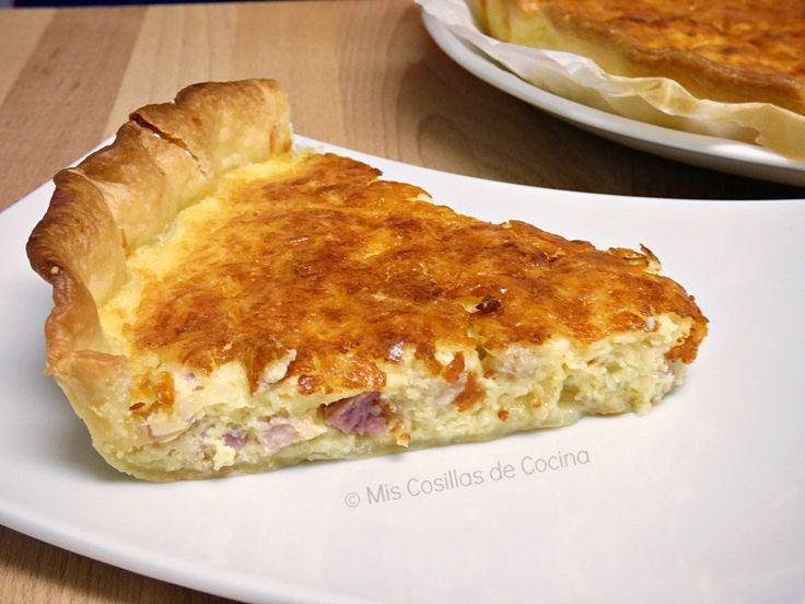 Quiche de cebolla, beicon y queso emmental | Cocinar en casa es facilisimo.com