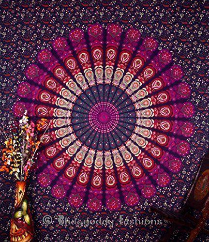 Indien Motif floral indien Bedsheet couvre Tenture, drap de plage, en pique-nique de qualité Hippie murale Motif bohème Motif Mandala, tapisseries, dortoir Pyshedlic Tapisserie en coton décoration, couvre-lit, 86 x 94 Par Bhagyoday Inch BhagyodayFashions https://www.amazon.fr/dp/B00WTXQWW6/ref=cm_sw_r_pi_dp_ZzUexbZ5QNA9N