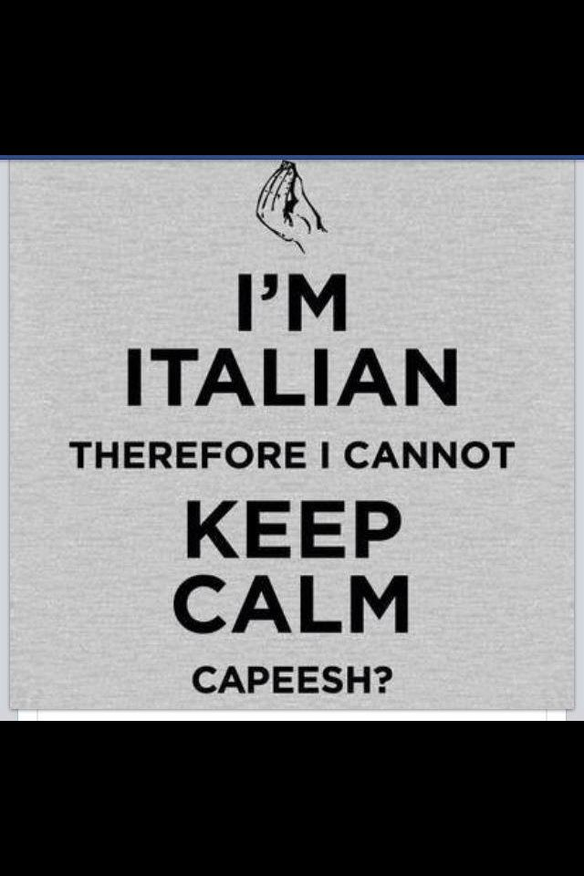 I'm not ITALIAN, but still have this problem, LOL