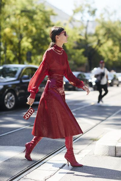 Attendees at Milan Fashion Week Spring 2018 - Street Fashion