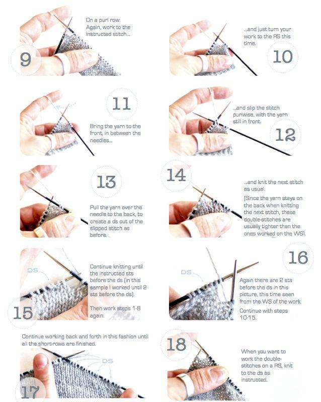 Knitting Cast On Techniques : German short rows phototutorial by la maison rililie