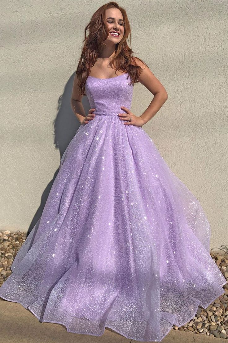 Beautiful Lilac 😍 | Sparkly prom dresses long, Lilac prom ...