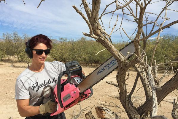 Saws for a Cause: Win a Pink Husqvarna 450 Rancher Chainsaw | https://charlesandhudson.com/saws-for-a-cause-win-a-pink-husqvarna-450-rancher-chainsaw/