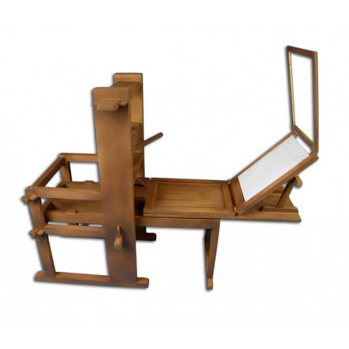 Hout modelbouw Gutenberg drukpers